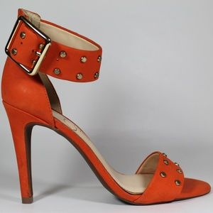 Jessica Simpson Shoes - SOLD! JESSICA SIMPSON ORANGE ANKLE STRAP HEELS